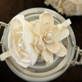 Ivory Wedding Corsage Made to Order- Mother of the Bride, Wedding Party Flowers, Rustic Wedding, Sola Flowers