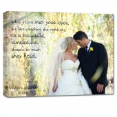 Personalized Cotton anniversary photo gift