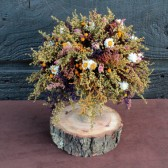 country wedding bridesmaid bouquet with sweet annie and rosebuds