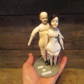 Mini Porcelain Doll Couple Cake Topper