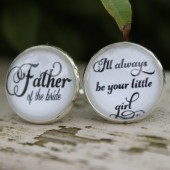 Father of the Bride, I'll Always Your Little Girl Wedding Cufflinks