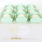 Mini Dessert and Candy Cups in Mint Green