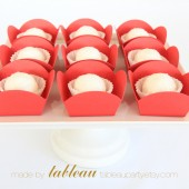 Mini Dessert and Candy Cups in Red