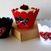 Custom made Cupcake Wrappers, Assorted Colors