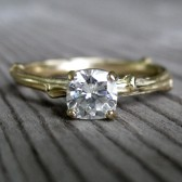 Moissanite Twig Engagement Ring