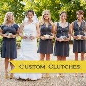 Custom Bridal Kisslock Clutches