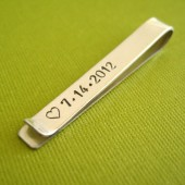 Sterling Silver Date Tie Bar