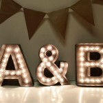custom wedding marquee lights