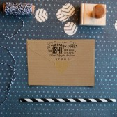 """Cutest little vintage-inspired return address stamp in the whole world. 2.5"""" x 1.5"""""""