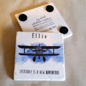 Personalized Vintage Plane Coasters
