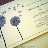 Dandelion Wedding Program