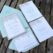 Dangling Flowers Invitation