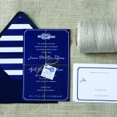 Nautical Tie the Knot Wedding Invitations