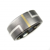 Deco Titanium Wedding Band