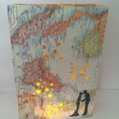 Travel Luminaries, Cuatom Map Luminary Bags