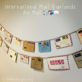 Air Mail Banner, Travel Decoration, Travel Themed Banner