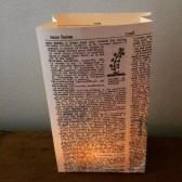 Book Wedding Decor, Dictionary Luminaries