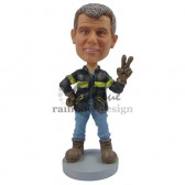 Peace and Love Officer Custom Bobblehead