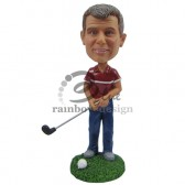 Golfer Ready to Hit a Big One Custom Bobblehead
