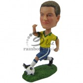 Running Soccer Player Custom Bobblehead