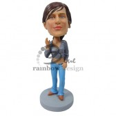Party Gal in Jeans Custom Bobblehead