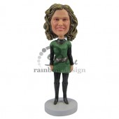 Lady in Green Dress Custom Bobblehead