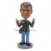 Peace and Love Tourist Custom Bobblehead