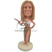 Hawaiian Style Dressed Lady Custom Bobblehead