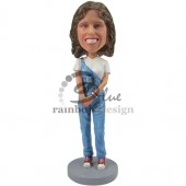 College Gal Custom Bobblehead