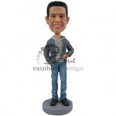 Casual Male Standing Custom Bobblehead