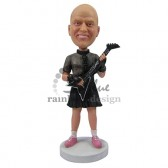 Old Fashioned Guitar Player Custom Bobblehead