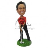 Ready Hit the Ball Golfer Custom Bobblehead