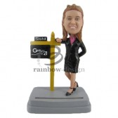 Female Real Estate Agent Custom Bobblehead