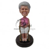 Sitting Granny Custom Bobblehead