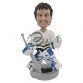 Ice Hockey Goalie Custom Bobblehead