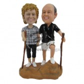 Outdoor Couple Custom Bobbleheads