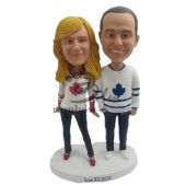 Sports Fan Couple Custom Bobbleheads