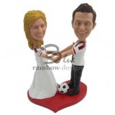 Soccer Lover Couple Custom Bobbleheads