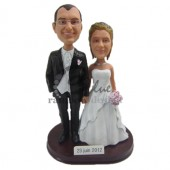 Happy Ever After Wedding Couple Custom Bobbleheads