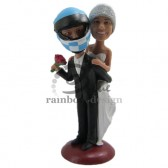Racing Lover Wedding Couple Custom Bobbleheads
