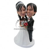 Posing for Pics Wedding Couple Custom Bobbleheads