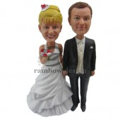 Cute Wedding Couple Custom Bobbleheads