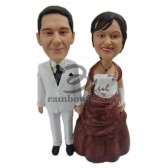 Classic Wedding Couple Custom Bobbleheads