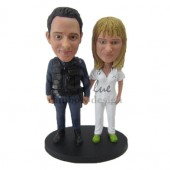 Couple Posing for Pics Custom Bobbleheads