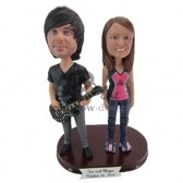 Band Groupies Couple Custom Bobblehead