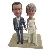 Destination Wedding Couple Custom Bobbleheads