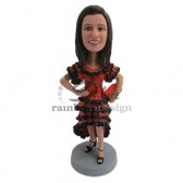 Hot Latina in Spanish Outfit Custom Bobblehead