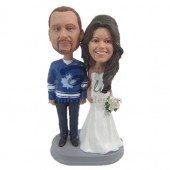 Sports Fan Loving Couple Custom Bobblehead
