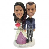 Gorgeous Wedding Couple Custom Bobbleheads