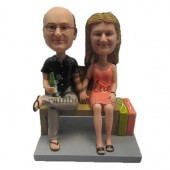 Couple Sitting on a Sofa Custom Bobbleheads